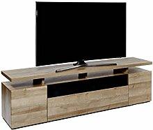 Jahnke TV-Möbel, Holzdekor, braun, 190 x 42 x