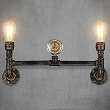 JAHQ Wasserleitung 2 Kopf Wandlampe Retro