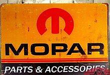 Jahrgang Home Decor TIN SIGN Mopar Teile Metall Dekor Wall Art Garage Auto Shop Höhle