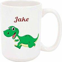 Jake Dinosaur 11oz Kaffee- oder Teebecher White