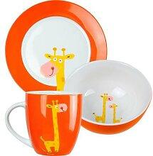 JAKO-O Porzellan-Geschirr-Set, orange