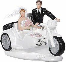 jakopabra Deko Figur Brautpaar auf Motorrad, ca.