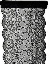Jakopabra Premium Tischläufer Spitze 18cm / 3m
