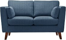 Jalouse Maison   2-Sitzer-Sofa Elisa blau Leinen