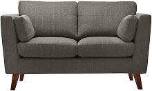 Jalouse Maison   2-Sitzer-Sofa Elisa braun Leinen