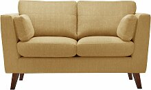 Jalouse Maison   2-Sitzer-Sofa Elisa gelb Leinen