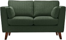 Jalouse Maison   2-Sitzer-Sofa Elisa grün Leinen