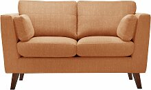 Jalouse Maison   2-Sitzer-Sofa Elisa orange Leinen