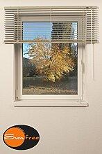 Jalousie ALU Breite 120 x Höhe 120 cm, beige, Sonnenschutz