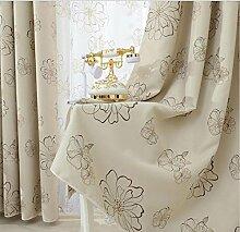 Jalousien modernes Blumenmuster Fenster Verdunklungsvorhänge & Drapes für Wohnzimmer die Schlafzimmer Küche Fenster Behandlungen Shading Panel (200cm Windows) 1, 1pc(200*270 cm?