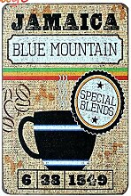 JAMAICA Blue Mountain Kaffee Vintage Tin Sign Bar Pub home Wand Dekor Retro Metall Art Poster