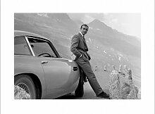 James Bond - Aston Martin - Kunstdruck Artprint