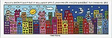 James Rizzi Magnettafel, Memoboard MY CITY DOES
