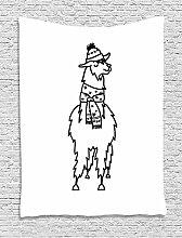 James Zugentlastung Lama Wandteppich, South
