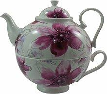 Jameson & Tailor Tea for one - Dekor Blüten in