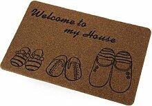 Jamicy® Matten Teppich Badematten Wasser Absorption Matte Antirutsch-Veranda Kopfteil Küche (B)