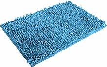 Jamicy® Soft Shaggy Antirutsch saugfähig Badematte Bad Dusche Teppiche Teppich 50*80cm (Himmelblau)
