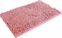 Jamicy® Soft Shaggy Antirutsch saugfähig Badematte Bad Dusche Teppiche Teppich 50*80cm (Rosa)