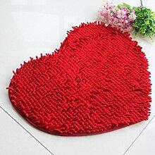 Jamicy® Soft Shaggy Antirutsch saugfähig Badematte Bad Dusche Teppiche Teppich 50*60cm (Rot)