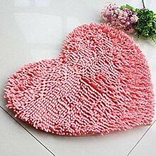 Jamicy® Soft Shaggy Antirutsch saugfähig Badematte Bad Dusche Teppiche Teppich 50*60cm (Rosa)