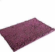 Jamicy® Soft Shaggy Antirutsch saugfähig Badematte Bad Dusche Teppiche Teppich 50*80cm (Lila)