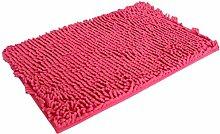 Jamicy® Soft Shaggy Antirutsch saugfähig Badematte Bad Dusche Teppiche Teppich 50*80cm (Hot Pink)