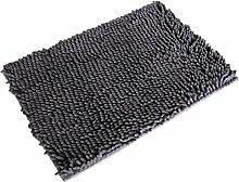 Jamicy® Soft Shaggy Antirutsch saugfähig Badematte Bad Dusche Teppiche Teppich 50*80cm (Gray)