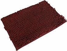 Jamicy® Soft Shaggy Antirutsch saugfähig Badematte Bad Dusche Teppiche Teppich 50*80cm (Kaffee)