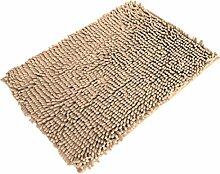 Jamicy® Soft Shaggy Antirutsch saugfähig Badematte Bad Dusche Teppiche Teppich 50*80cm (Beige)