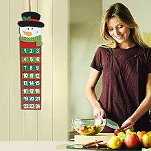 Jamicy (TM) Weihnachtskalender Dekoration