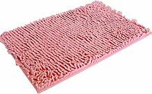 Jamicy® Weiche Shaggy Anti-Rutsch-saugfähige Badematte Bad Dusche Teppiche Teppich 40*60cm (Rosa)