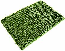 Jamicy® Weiche Shaggy Anti-Rutsch-saugfähige Badematte Bad Dusche Teppiche Teppich 40*60cm (Grün)