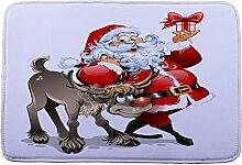 Jamicy® Weihnachten HD bedruckte rutschfeste Badematte Badematten / Badvorleger / Badteppich Absorbent Home Decor 40*60cm (H1)