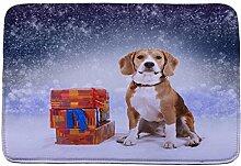 Jamicy® Weihnachten HD bedruckte rutschfeste Badematte Badematten / Badvorleger / Badteppich Absorbent Home Decor 40*60cm (F2)