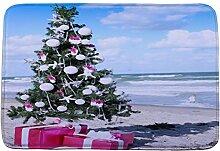 Jamicy® Weihnachten HD bedruckte rutschfeste Badematte Badematten / Badvorleger / Badteppich Absorbent Home Decor 40*60cm (A2)