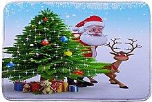 Jamicy® Weihnachten HD bedruckte rutschfeste Badematte Badematten / Badvorleger / Badteppich Absorbent Home Decor 40*60cm (D)