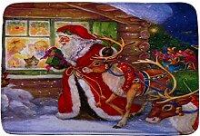 Jamicy® Weihnachten HD bedruckte rutschfeste Badematte Badematten / Badvorleger / Badteppich Absorbent Home Decor 40*60cm (A)