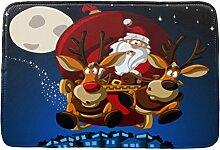 Jamicy® Weihnachten HD bedruckte rutschfeste Badematte Badematte Badezimmer Dusche Teppiche Absorbent Home Decor (D1)