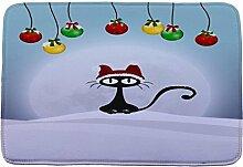 Jamicy® Weihnachten HD bedruckte rutschfeste Badematte Badematten / Badvorleger / Badteppich Absorbent Home Decor 40*60cm (G)
