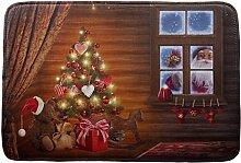 Jamicy® Weihnachten HD bedruckte rutschfeste Badematte Badematten / Badvorleger / Badteppich Absorbent Home Decor 40*60cm (B2)