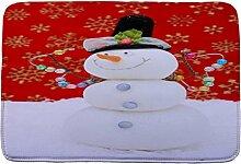 Jamicy® Weihnachten HD bedruckte rutschfeste Badematte Badematten / Badvorleger / Badteppich Absorbent Home Decor 40*60cm (E)