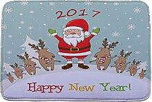 Jamicy® Weihnachten HD bedruckte rutschfeste Badematte Badematten / Badvorleger / Badteppich Absorbent Home Decor 40*60cm (I2)