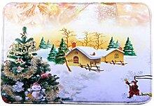 Jamicy® Weihnachten HD bedruckte rutschfeste Badematte Badematte Badezimmer Dusche Teppiche Absorbent Home Decor (D)
