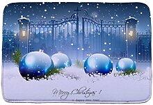 Jamicy® Weihnachten HD bedruckte rutschfeste Badematte Badematte Badezimmer Dusche Teppiche Absorbent Home Decor (A1)