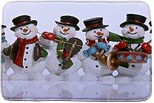 Jamicy® Weihnachten HD bedruckte rutschfeste Badematte Badematte Badezimmer Dusche Teppiche Absorbent Home Decor (F2)