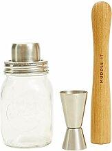 Jamie Oliver Cocktail-Shaker aus Glas mit