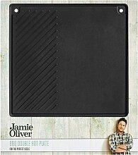 Jamie Oliver Grillplatte Gusseisen eckig für