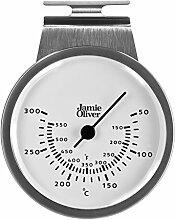 Jamie Oliver Ofen Thermometer, Edelstahl, Silber,