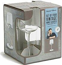 Jamie Oliver Vintage Wein Glas Set von 4, glas, B