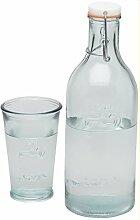 Jamie Oliver Wasserflasche + Wasserglas aus